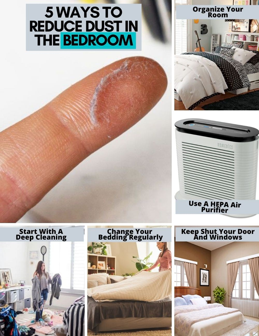 ways to reduce dust in the bedroom