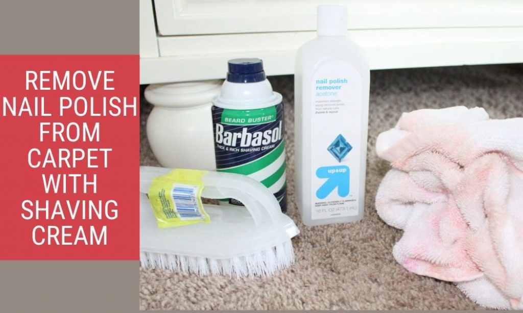 best way to clean carpet with shaving cream
