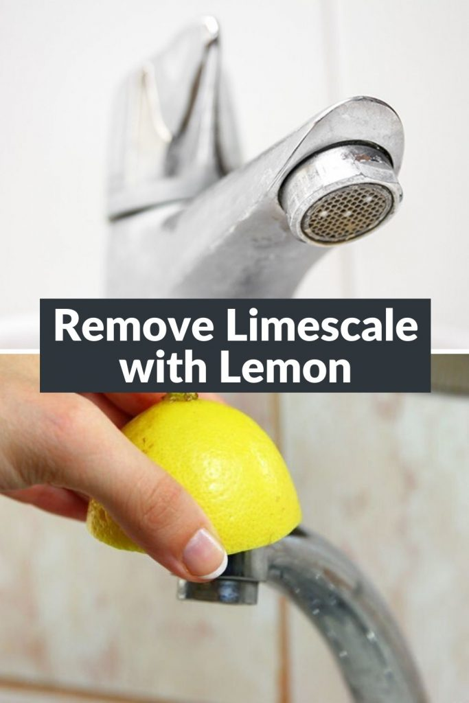 How to Remove Limescale from Taps with lemon