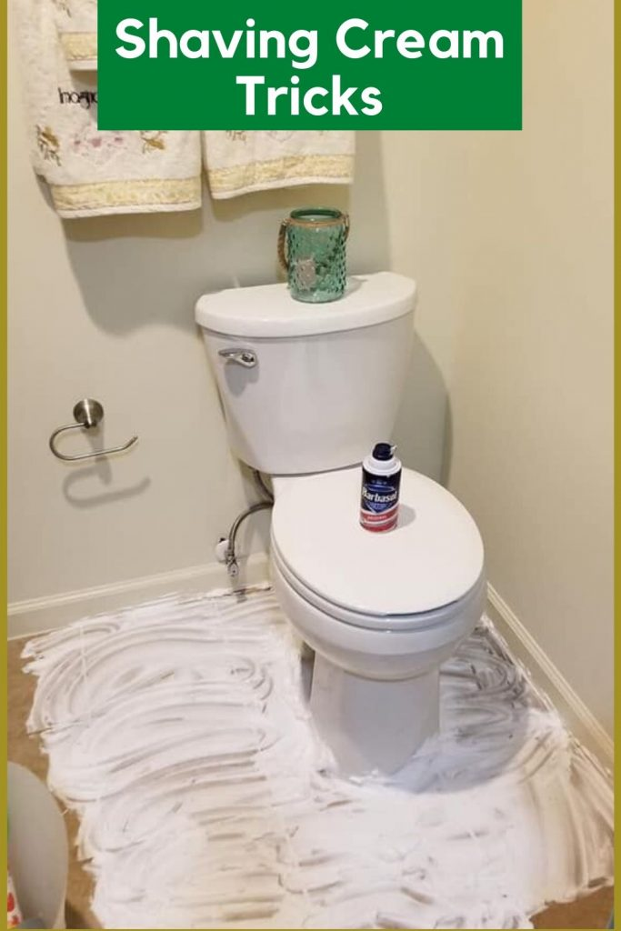 remove urine smell from bathroom with shaving cream
