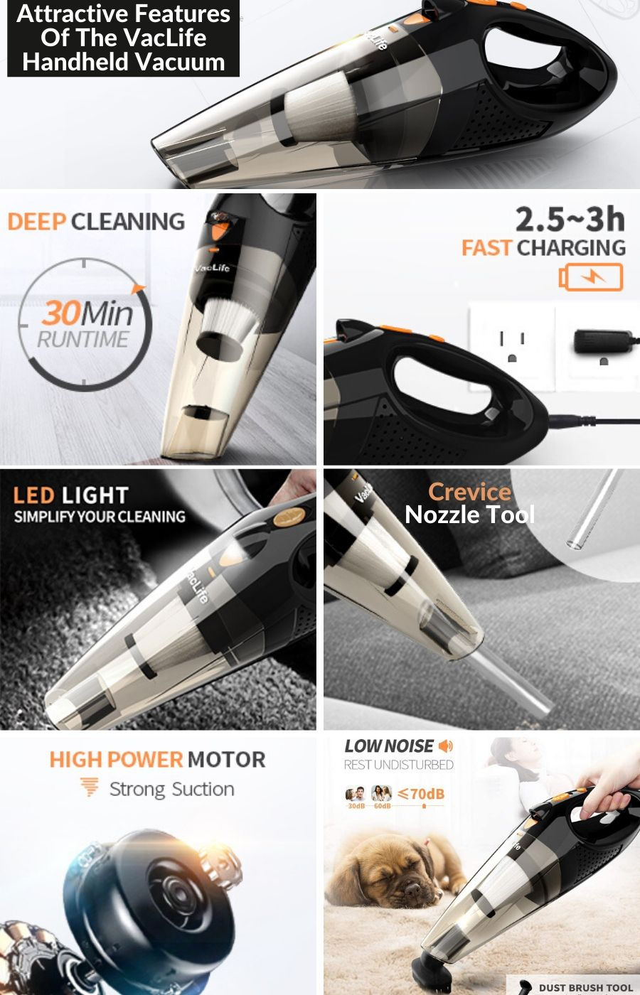 Attractive Features Of The VacLife Handheld Vacuum