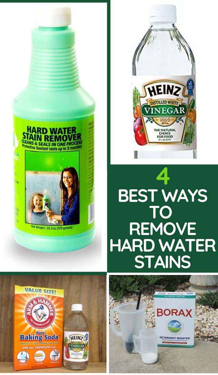 Best ways to remove hard water stains