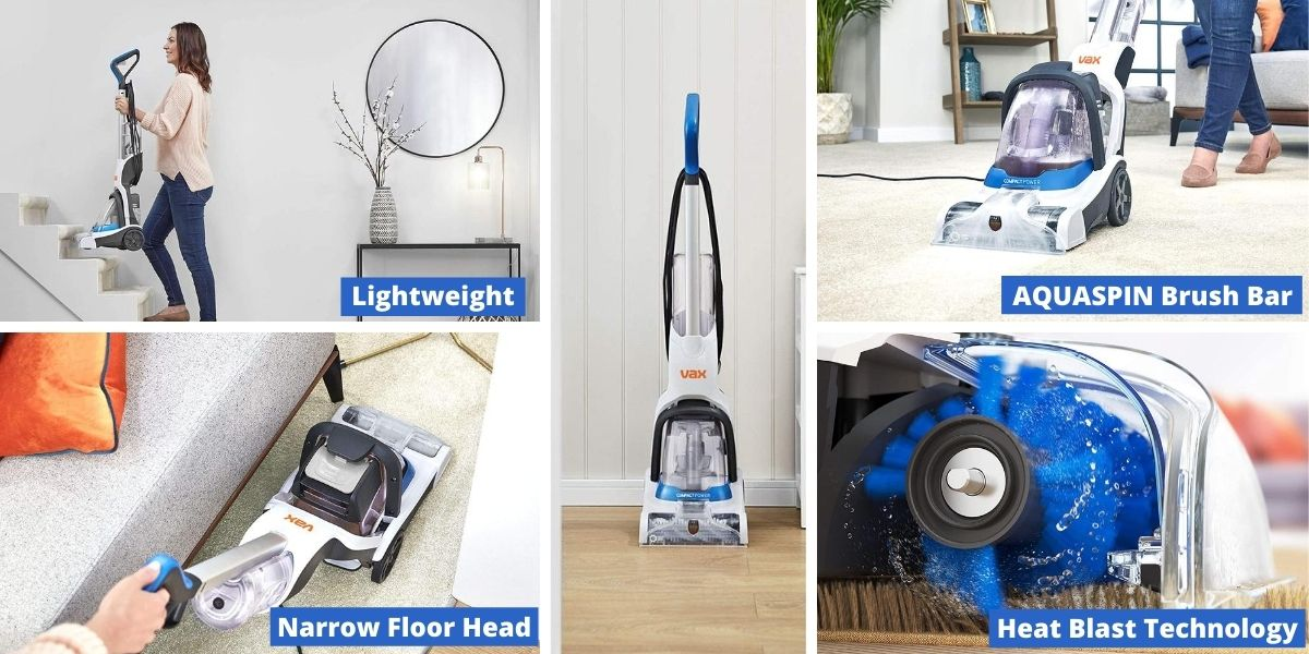 features of Vax Compact Power Carpet Cleaner