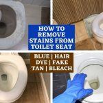 How to remove stains from toilet seat