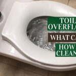 Toilet Overflowed how to clean up
