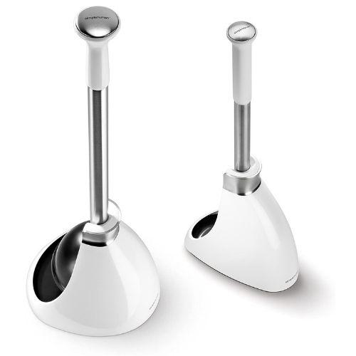 Simplehuman toilet brush and toilet plunger set