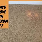 Remove Bleach Stains From Carpet