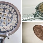 remove limescale rust calcium deposit from shower head