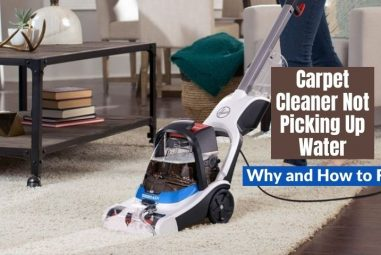 Carpet Cleaner Not Picking Up Water | Why and How to Fix