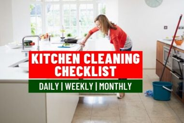 Ultimate Kitchen Cleaning Checklist | Daily, Weekly & Monthly