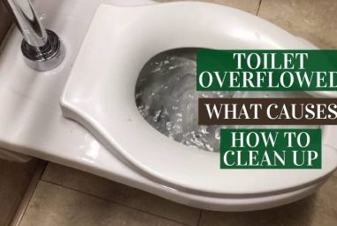Toilet Overflowed | What Causes & How to Clean Up