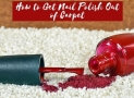 How to Get Nail Polish Out of Carpet   Total Solution