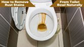 How to Remove Rust Stains from Toilet Bowl Naturally
