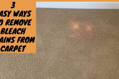 3 Easy Ways to Remove Bleach Stains From Carpet